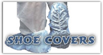 Choose Polypropylene, Polylatex or Polyethylene Shoe Covers.